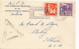 Nederlands Indië - 1940 - 17,5 Cent Op Singapore Censored Cover Van Bandoeng Machinestempel Perangko... Naar USA - Indes Néerlandaises