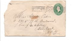 USA ETATS UNIS LETTRE DE HARTFORD 1897 - 1847-99 Unionsausgaben