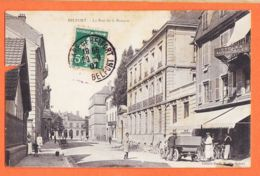 X90060 BELFORT La Rue De LA BANQUE Meubles CERF Garage Cycles-Automobiles Travaux Voirie 1907 à DUSSOL / Emile MARIN - Belfort - Ville