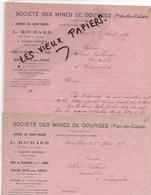 52 - Haute-marne - ST-DIZIER - Facture RICHARD - Sté Des Mines De Dourges (62), Charbon, Cokes - 1925 - REF 144B - 1900 – 1949