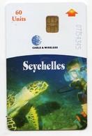 SEYCHELLES Ref MV Cards : SEY-C-02 REV B  60 U SEA TURTLE - Seychellen