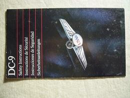 Avion / Airplane / US AIR / Douglas DC-9  / Safety Card / Consignes De Sécurité - Consignes De Sécurité