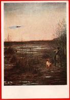 Sokolov 1956 Chasse Chasse Chasseur Fusil De Chasse Chien De Chasse Canard Abattu Oiseau Des Marais - Hunde