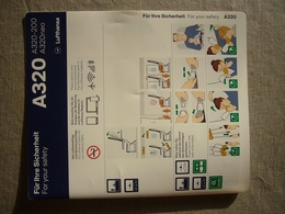 Avion / Airplane / LUFTHANSA / Airbus A320-200 - 320 Neo / Safety Card / Consignes De Sécurité - Scheda Di Sicurezza