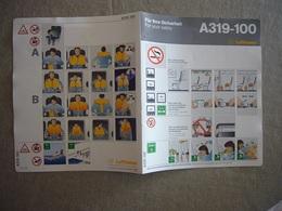 Avion / Airplane / LUFTHANSA / Airbus A319-100 / Safety Card / Consignes De Sécurité - Scheda Di Sicurezza