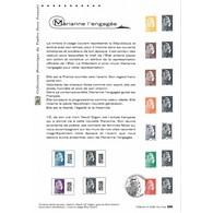 Document Officiel La Poste - Marianne L'engagée - Documents De La Poste