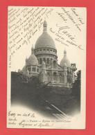 """C.P.A.  ( 75 )  """" PARIS """"  Eglise Du Sacré-Coeur    Voir 2 Photos - Sacré Coeur"""