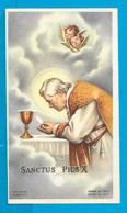 Relic   Reliquia    St. Pius X - Devotieprenten