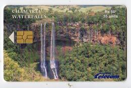 MAURICE Ref MV Cards MAU-55  55 U CHARAMEL WATERFALLS  Date Avril 2003 - Mauritius