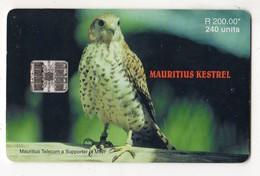MAURICE Ref MV Cards MAU-41  240 U MAURITIUS KESTREL Date 2000 - Mauritius