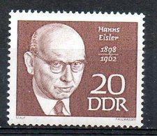 RDA. N°1084 De 1968. Compositeur Eisler. - Musica