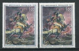 17671 FRANCE  N° 1365a ** 1F Géricault : Sabre Et Chiffre Rouge + Normal (non Fourni)     1963   TB - Variétés: 1960-69 Neufs