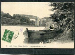 CPA - LES BORDS DE LA RANCE - Le Pont De Lessart - Bateaux De Pêche - France