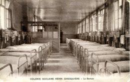 CPA - MARQUETTE - COLONIE SCOLAIRE HENRI GHESQUIERE - LE DORTOIR (T.RARE) - France