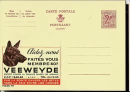 Publibel Neuve N° 1912  ( VEEWEYDE - Chien - Dog - Aidez Les  - Lutte Contre La Cruauté Envers Les Animaux) - Enteros Postales