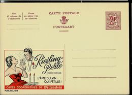 Publibel Neuve N° 1914  ( Riesling-Perlé  Caves Coopératives De Wellenstein) - Enteros Postales