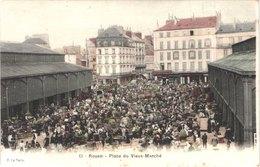 FR76 ROUEN - Place Du Vieux Marché - Animée - Belle - Rouen