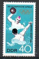 RDA. N°1104 De 1968. Water-polo Aux J.O. De Mexico. - Wasserball