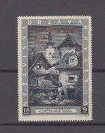 Croatie 1943 Yvert 104A ** Neuf Sans Charniere Avec Surcharge Rouge - Kroatien