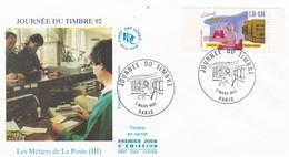 FRANCE 1992 FDC JOURNEE DU TIMBRE YT 2744 - 1990-1999
