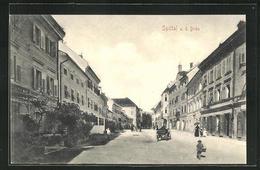 AK Spittal A. D. Drau, Strassenpartie Mit Gebäudeansicht - Autriche