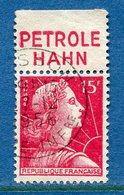 France - Marianne De Muller - N° 1011 - Oblitéré - Publicité Pétrole Hahn - Publicités