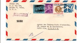 USA ETATS UNIS AFFRANCHISSEMENT COMPOSE SUR LETTRE RECOMMANDEE POUR LA FRANCE 1960 - Lettres & Documents