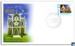 Sri Lanka Stamps 2007, The Shrine Of Our Lady Of Matara, FDC - Sri Lanka (Ceylon) (1948-...)