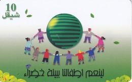 TARJETA DE PALESTINA DE UNOS NIÑOS EN CIRCULO 03/2001 Y TIRADA 300000 - Palestine