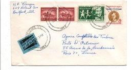 USA ETATS UNIS AFFRANCHISSEMENT COMPOSE SUR LETTRE POUR LA FRANCE 1959 - Lettres & Documents
