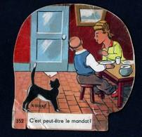 Découpis Publicité La Vache Sérieuse Le Petit Grosjean Série La Vie Courante Signé Ducré N°352 Années 1950 TB - Altri