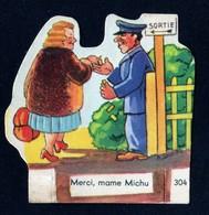 Découpis Publicité La Vache Sérieuse Le Petit Grosjean Série Le Train Chemin De Fer Signé Ducré N°304 Années 1950 TB - Altri