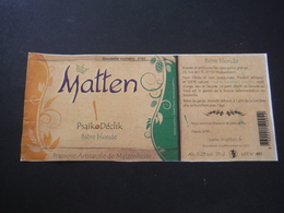 Etiquette Bière - Matten- PsaïkoDéclik Blonde - Brasserie Artisanale De Matzenheim - Bière
