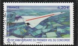 FRANCE 2019 - 50E ANNIVERSAIRE DU PREMIER VOL DU CONCORDE OBLITERE  YT PA 83 - Airmail