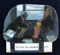 Découpis Publicité La Vache Sérieuse Le Petit Grosjean Série La Vie Courante Train Signée Ducré N°275 Années 1950 TB - Altri