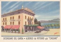 DESENZANO-BRESCIA-LAGO DI GARDA-ALBERGO=DA VITTORIO=-CARTOLINA  NON VIAGGIATA -ANNO 1940-1950 - Brescia