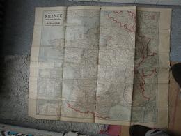 CARTE TARIDE : France, Belgique, Bords Du Rhin, Suisse, Colonies Françaises, - Europe Centrale, Chemins De Fer - Roadmaps