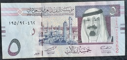 LC0305 - Saudi Arabia KSA 5 Riyal Banknote 2009 #195/920462 P32b - Arabia Saudita