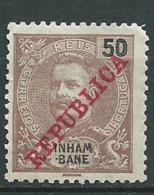 Inhambane  - Yvert N° 38 (*)   Dent  Rognée Dans Un Angle       AI 28419 - Inhambane