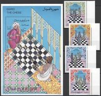 E429 1996 SOOMAALIYA SPORT CHESS HISTORY GIARO THE CHESS ART MICHEL #615-8 BL40 27 EURO 1BL+1SET MNH - Echecs