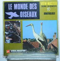 VIEW MASTER  :   LE MONDE DES OISEAUX    B 678  :  POCHETTE DE 3 DISQUES - Visionneuses Stéréoscopiques