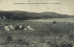 AYRSHIRE - LARGS - BROOMFIELDS WITH BATTLE MEMORIAL IN DISTANCE - ANIMATED  Ayr37 - Ayrshire