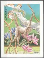 E435 2002 SOOMAALIYA FAUNA ANIMALS MONKEYS 1BL MNH - Singes
