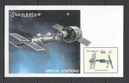 E457 2002 SOOMAALIYA SPACE SPATIAL STATIONS 1BL MNH - Espace