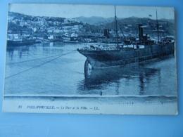 ALGERIE - PHILIPPEVILLE (SKIKDA) - LE PORT ET LA VILLE 1923 - Skikda (Philippeville)