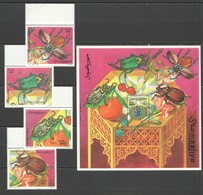 E485 1998 SOOMAALIYA FLORA & FAUNA INSECTS BUGS BL+SET MNH - Insectes
