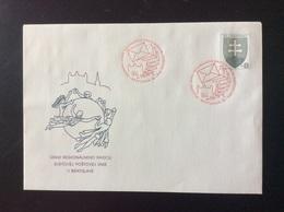 1996 : UPU Union Postale Universelle De Bratislava Oblitération Rouge COB 4 Michel U 4 - Interi Postali