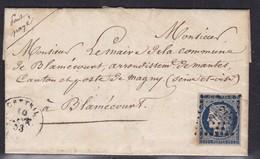 France, Seine - Yvert N° 4a - Bleu Foncé,pc 1032 Sur LAC De Creteil De 1853 - Indice 13 - 1849-1876: Période Classique
