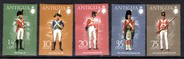 ANTIGUA - 1974 MILITARY UNIFORMS 5TH SERIES SET (5V) FINE MNH ** SG 380-384 - 1960-1981 Ministerial Government