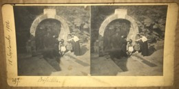 44 - PREFAILLES - Photo Stereoscopique De La Fontaine En 1902 - Stereoscopio